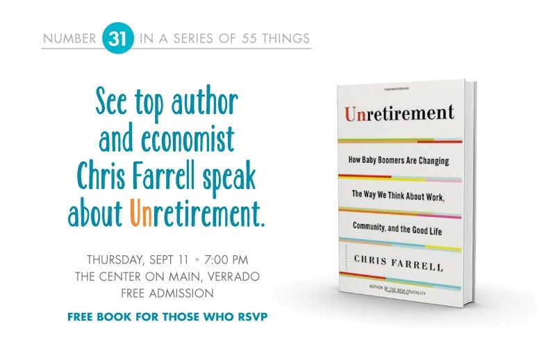 Come hear chris farrell speak about unretirement victory for Verrado retirement community